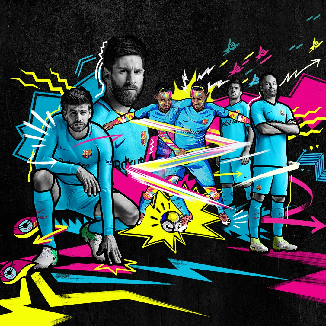 Barcelona Away Kit 2017-18