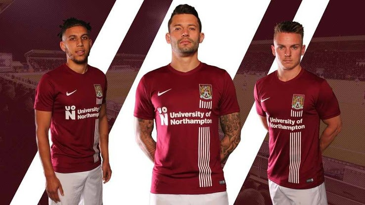 Northampton Town 17-18 Home kit